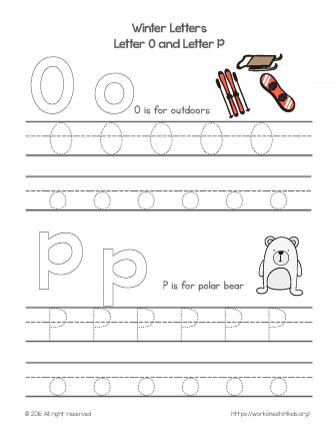 winter alphabet letters o and p winter worksheets worksheets4kids free worksheets for. Black Bedroom Furniture Sets. Home Design Ideas