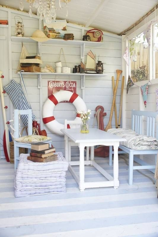 9 cute and inspirational beach huts! @Sue Goldberg Riopelle -- Ludington Garage conversion?