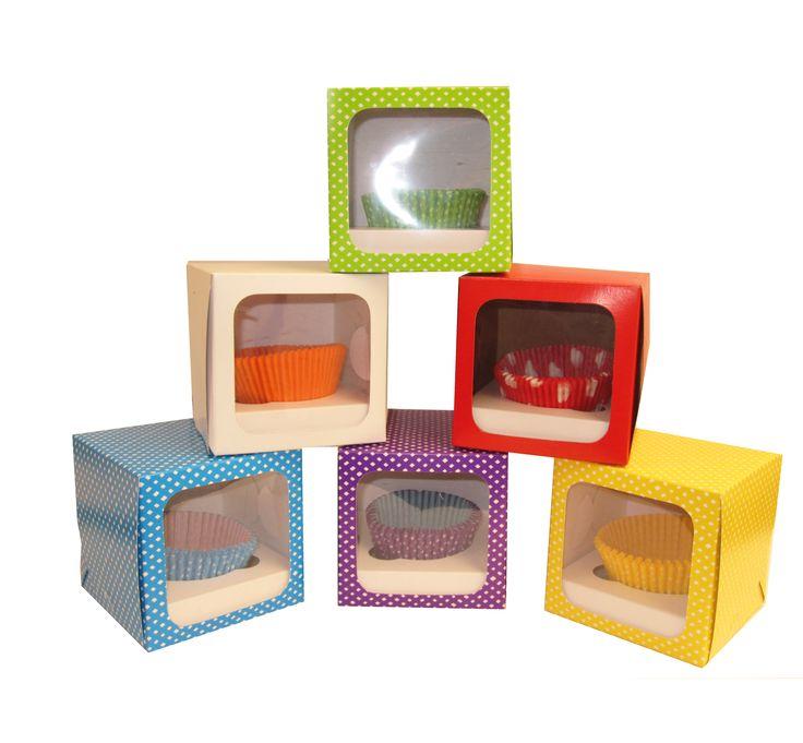 Cajas Cupcake x1 maletín...