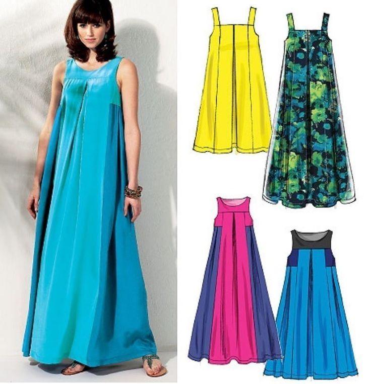 McCALL'S M6555 MISSES' WOMEN BOHO MUUMUU DRESS PATTERN MATERNITY OPT SIZE 8-24W #McCALLS #SewingPattern