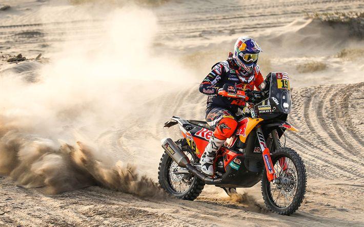 Télécharger fonds d'écran Antoine Meo, 4k, rallye raid, 2018 vélos, Dakar, coureur, Red Bull KTM Rallye de Course d'Usine, Dakar 2018, la KTM 450 Rally Factory, KTM