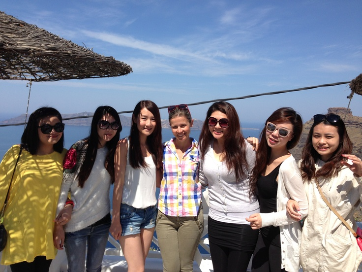 With Kerry and her sisters! @Sunrise Greece