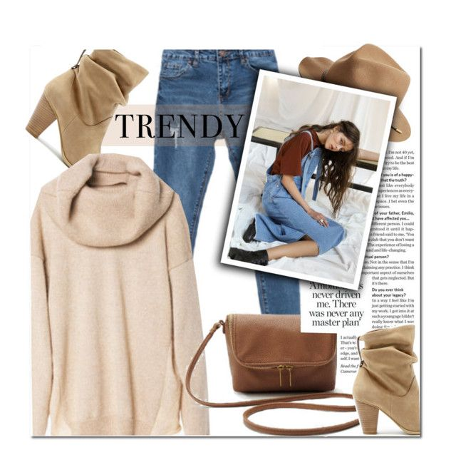 """""""Nude + Jeans"""" by genuine-people ❤ liked on Polyvore featuring mode, Sole Society, rag & bone, brown, beige en fashionset"""