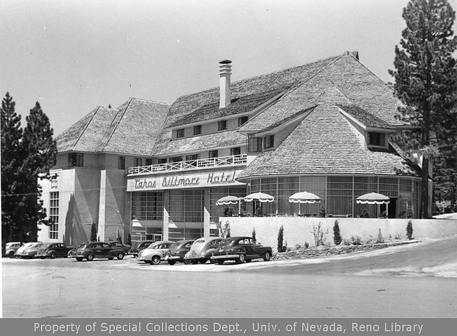 Tahoe Biltmore Hotel, Crystal Bay, Nevada.  Vintage Lake Tahoe Photography.