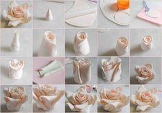 Роза из полимерной глины фото #1