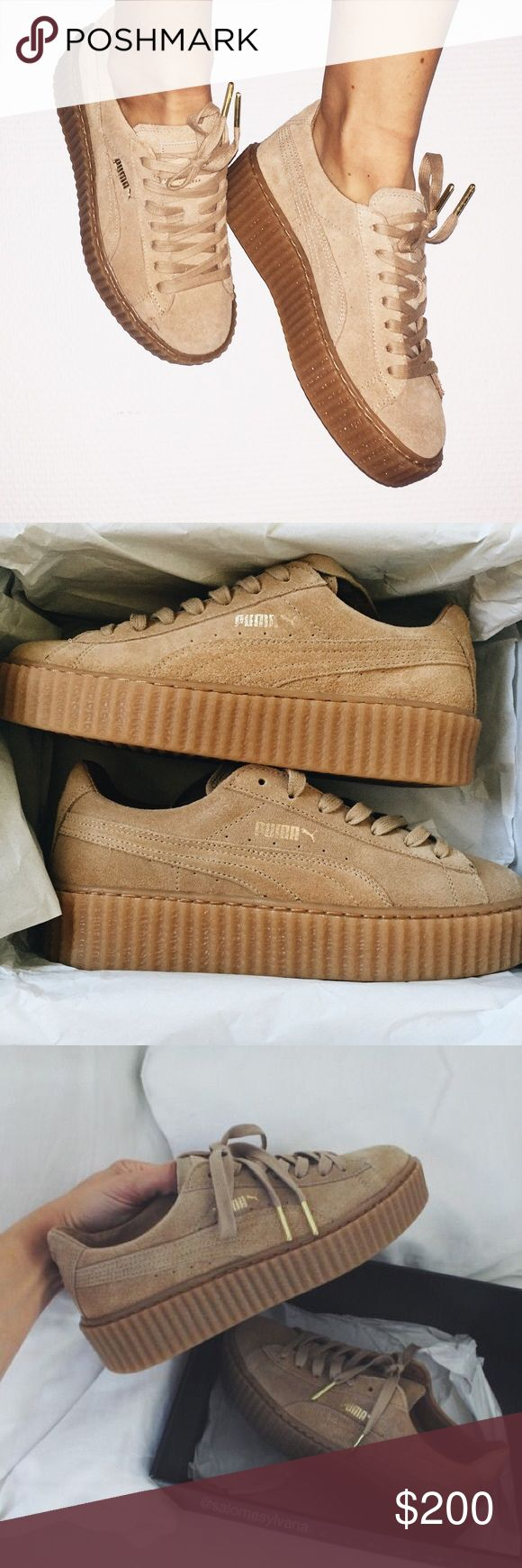 Rihanna Fenty Puma Creepers -size 8 in women's These are Rihanna's Fenty Puma Creepers! Size 8 in women's! These are a great catch she only restocks once a year and they sell out FAST!! Puma Shoes Platforms