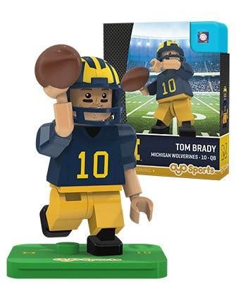 NCAA Michigan Wolverines Generation 2 Tom Brady College Legend Limited Edition Mini Figure