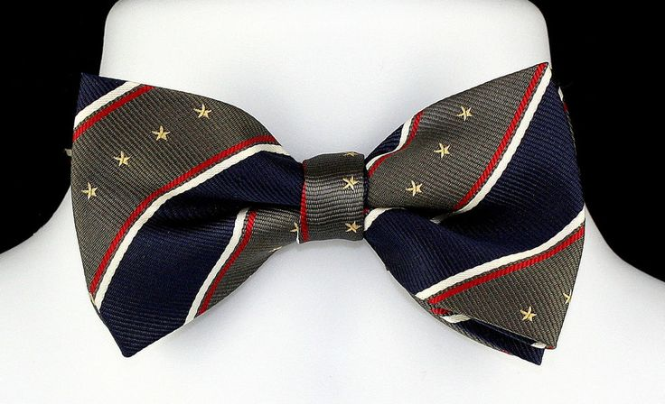 New Stars & Stripes Navy Mens Bow Tie Tuxedo Wedding Fashion Patriotic Bowtie #TiesJustForYou #BowTie