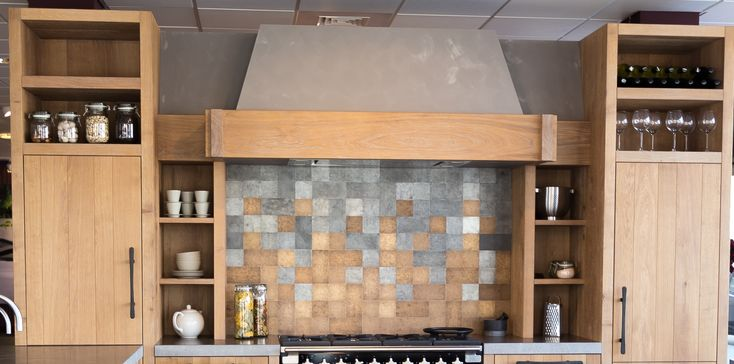 Pure Tiles mix with Raw Bronze and Raw Metal Tiles. More inspiration on www.dauby.com .