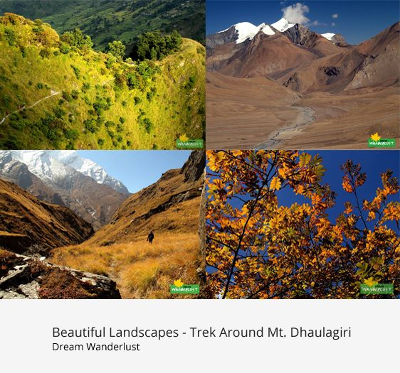 Landscapes of Dhaulagiri Circuit trek, Oct 2014 Dhaulagiri Basecamp - French Pass - Hidden Valley - Thapa Pass