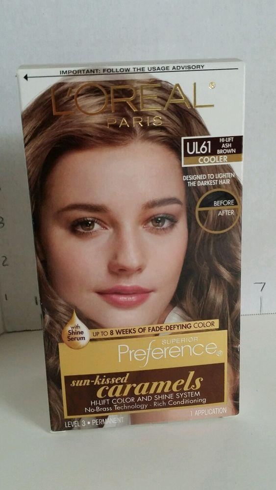 Loreal Paris Superior Preference Hair Dye UL61 HI-LIFT Ash Brown Sun Kissed  #lorealparis