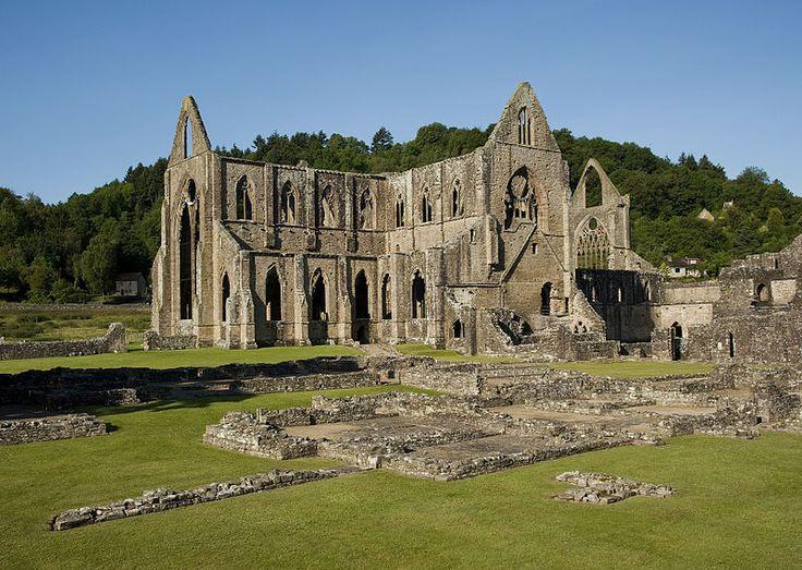 Tintern Abbey ruins in Wales.