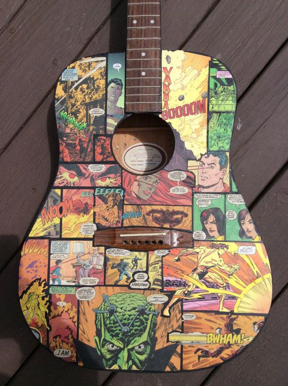 Custom Fender Squier 20th Anniversary Superman by ComicCulture on etsy.com, $695.00