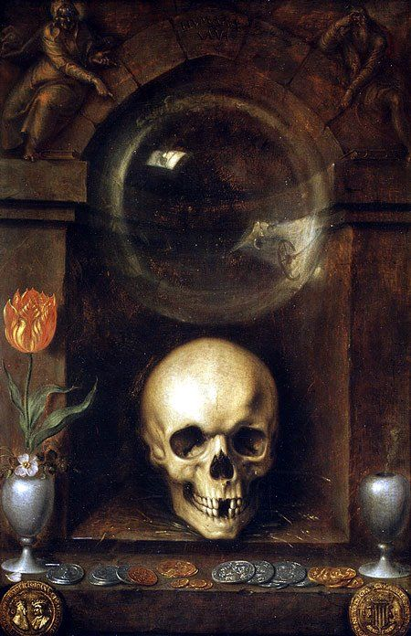 Jacques de Gheyn II (Netherlandish, 1565–1629). Vanitas Still Life, 1603. The Metropolitan Museum of Art, New York. Charles B. Curtis, Marquand, Victor Wilbour Memorial, and The Alfred N. Punnett Endowment Funds, 1974 (1974.1)