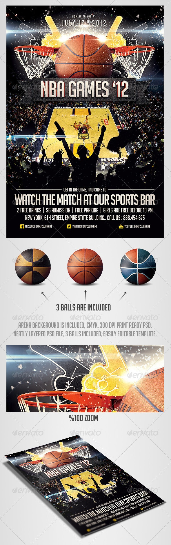 17 best images about posters psd flyer templates basketball sports flyer template