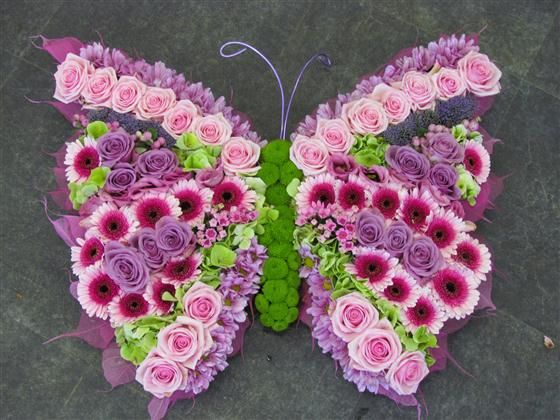 Butterfly Floral Design Fresh Flowers RePinned by: VilleresFlorist.com