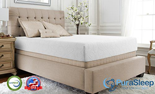 Purasleep Reluxe Nextgen Thermaphase Gel Memory Foam Mattress Made In The Usa 10 Year