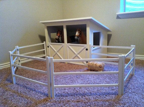Doll Horse Stable and Fence Plans for American by addielillian