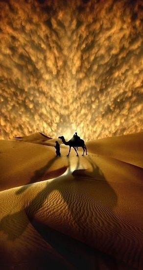 Saharan Sunset Amazing Pictures of the world