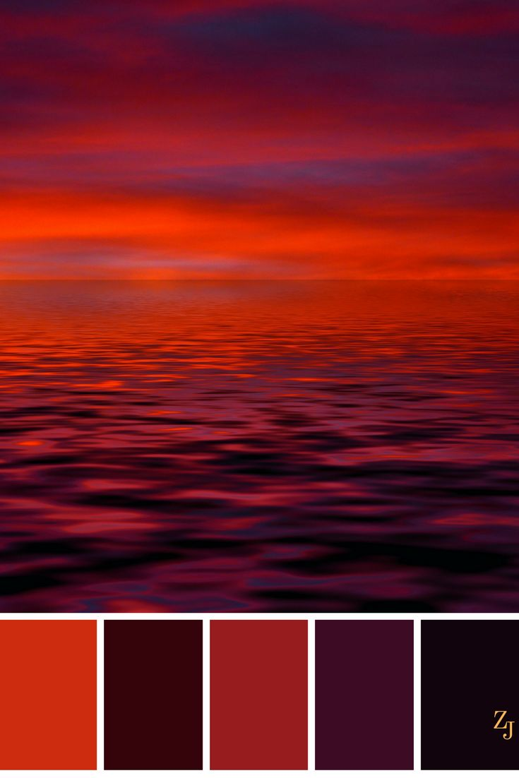Red Ocean and Sky Color Palette #colorpalette #red #black ...