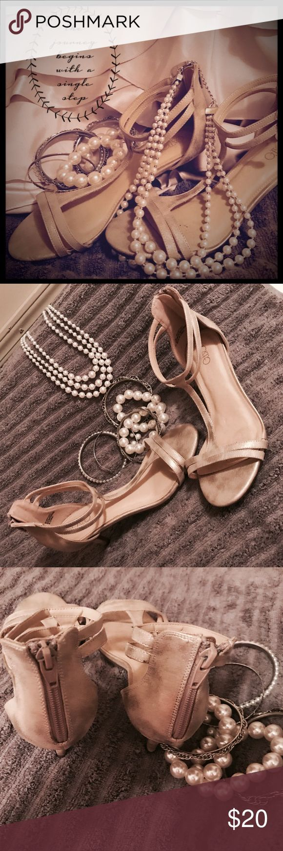 Women's' Champagne Colored Heels by CATO Women's' Champagne Colored Heels by CATO. * The shoes are marked 7. I wear a size 8.  I am marking these a size 8.* Worn one time. Vey nice shoes.  Contact me with any questions.             🌟🌸Thanks for l👀king!🌸🌟 cato Shoes Heels