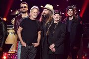 (Editorial Use Only) (L-R) Kris Kristofferson, Eric Church, Chris Stapelton and Willie Nelson perform on stage during the Imagine: John Lennon 75th Birthday Concert at The Theater at Madison Square Garden on December 5, 2015 in New York City.