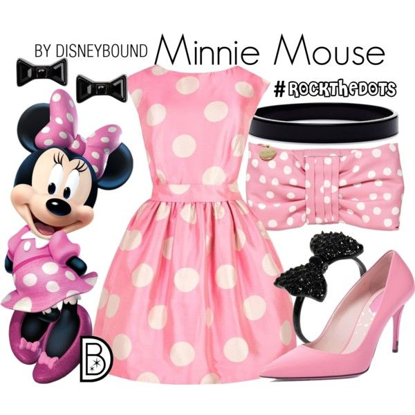 A Minnie Mouse look from January 2017 by leslieakay featuring Fendi, RED Valentino, L. Erickson, Marc by Marc Jacobs, Jack Wills, disney, disneybound, disneycharacte...