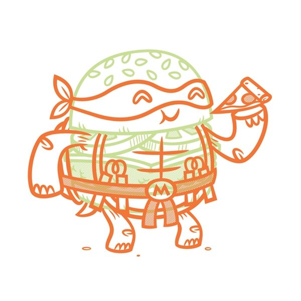 Famous Characters Hilariously Reimagined As Cheeseburgers by illustrator Philip Tseng