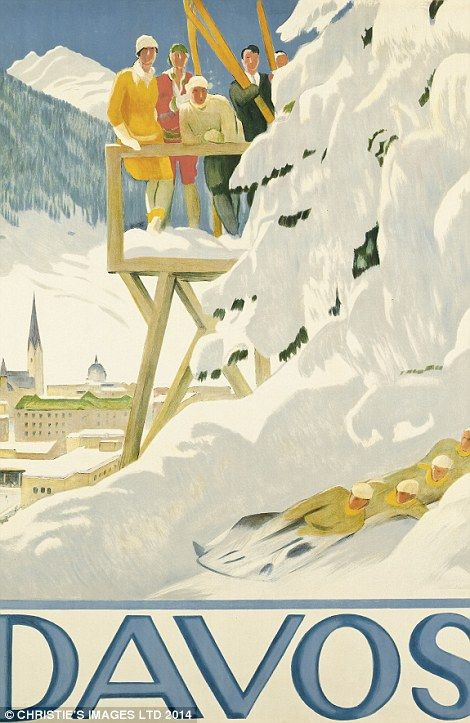 Emil Cardinaux's (1877-1936) sketch of Davos is hoped to collect between £12,000 - £18,000...