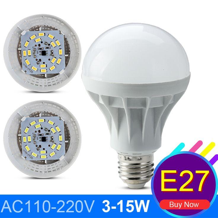 Bombillas Led לבן חם קר Lampadas מנורת E14 הנורה LED E27 220 V 3 W 5 W 7 W 9 W 12 W 15 W Led גלוב אור חיסכון באנרגיה מנורת