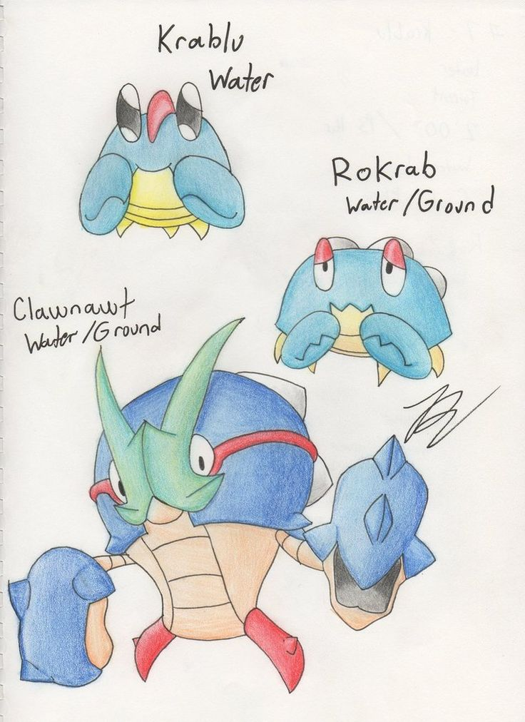Fakemon - What Big Claws - Water Starters by dragonkitteh ...