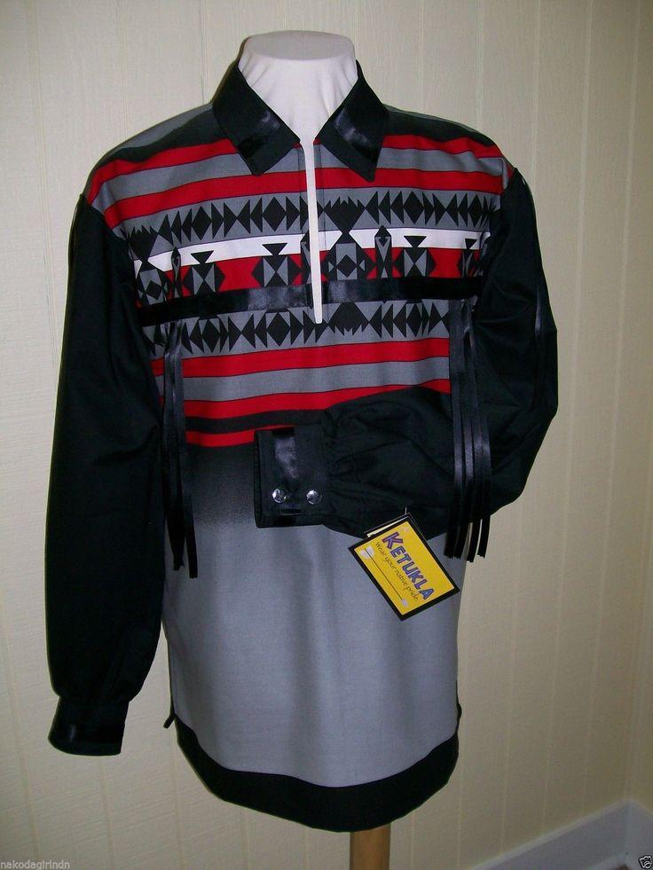 Native American Regalia Nakoda Made Fancy Black Ribbon Shirt Size XL | eBay