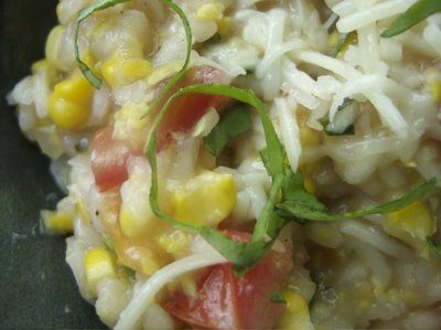 Fresh Corn Risotto With Basil, Tomato And Lime... Omg..... I've ...