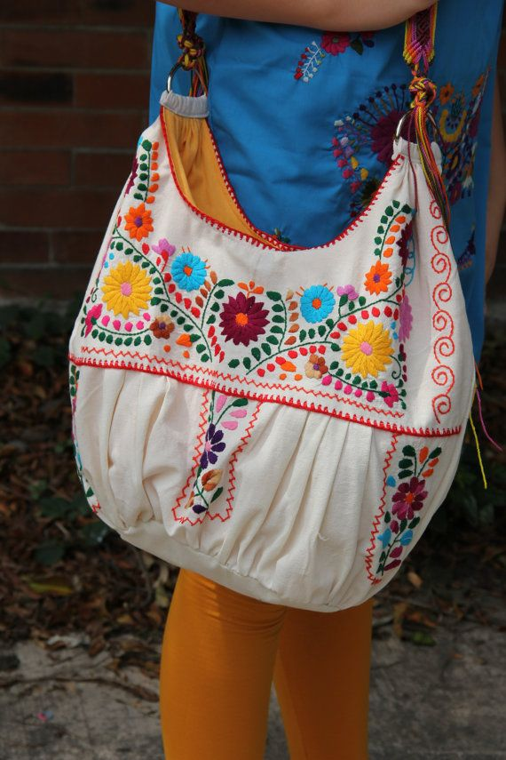 Beige Muslin with Multi colored hand Embroidered by CasaOtomi