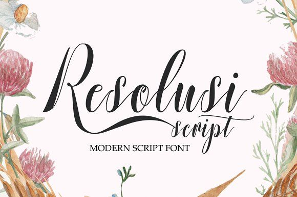 Resolusi Script by cooldesignlab on @creativemarket