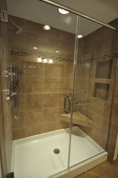 Fiberglass Base & Tile walls in Wauwatosa, WI traditional bathroom