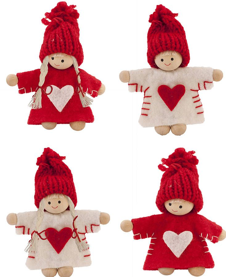 felt nordic mini people  christmas decorations