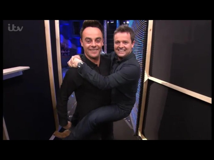 Monkey Dec lol Ant and dec mucking about on Britain's got talent 2013