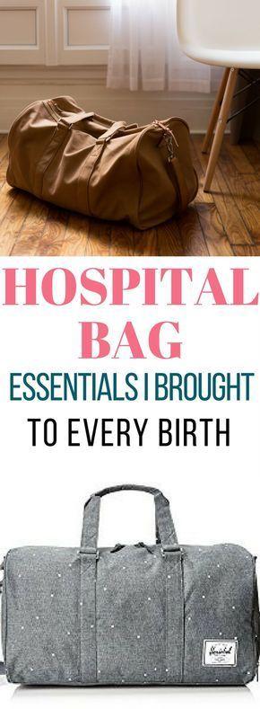 Voici quelques essentiels de sac d'hôpital que j'ai apportés à chaque naissance!  – Pregnancy Advice