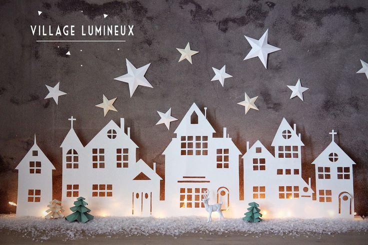 Aux petites merveilles: DIY :: VILLAGE LUMINEUX DE NOËL aux-petites-merveilles.blogspot.com