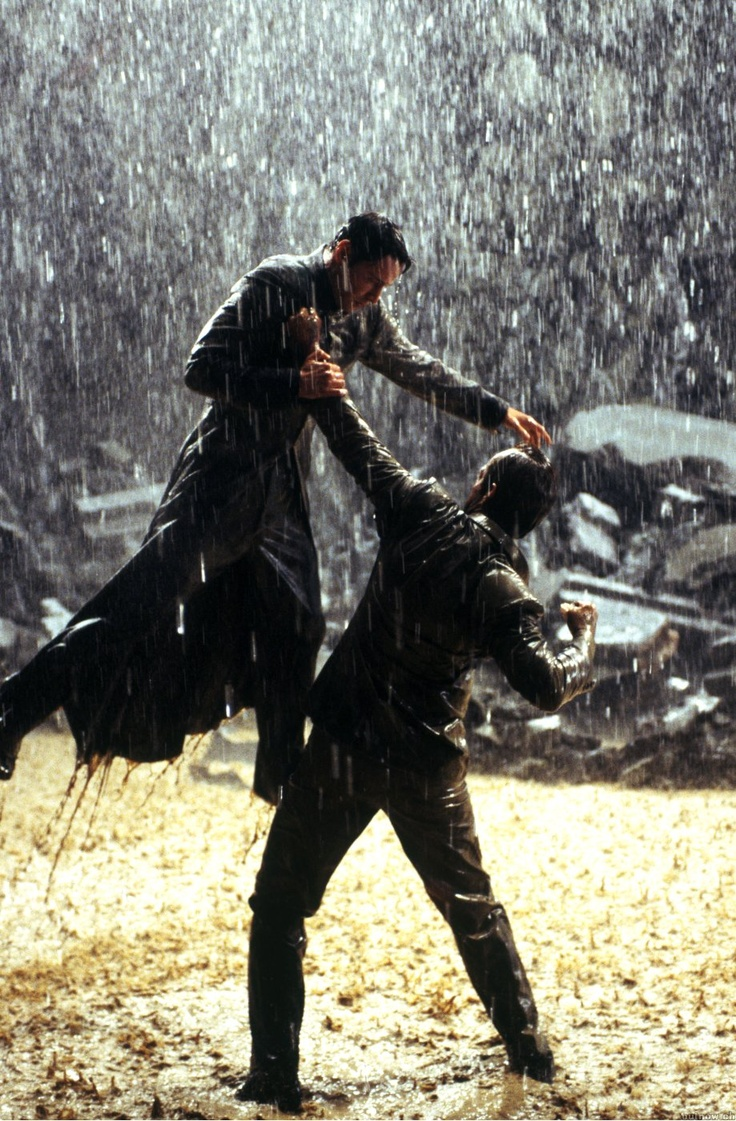 Keanu Reeves & Hugo Weaving in The Matrix Revolutions