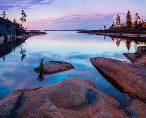 Dusk, Serene Lake, Finland