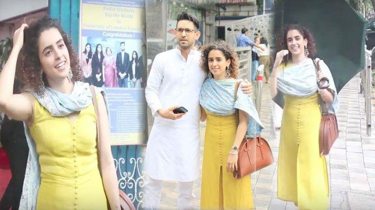 Stunning Vikrant Massey With Sanya Malhotra At Mukesh