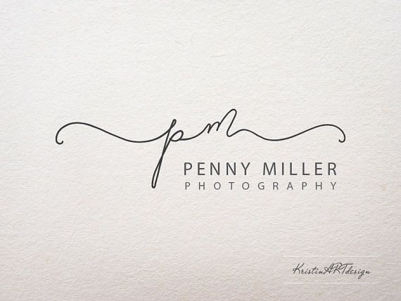 Signature logo Initials Watermark Handwritten by KristinARTdesign