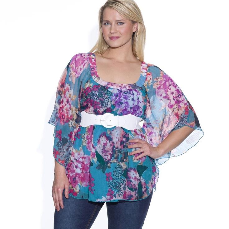 Bluza din tesatura cu imprimeu colorat sau negru-masuri mari de la 42 la 62 . Cititi tot articolul click ==>> http://thankyou.ws/ce-se-poarta-in-primavara-vara-2013-moda-franceza