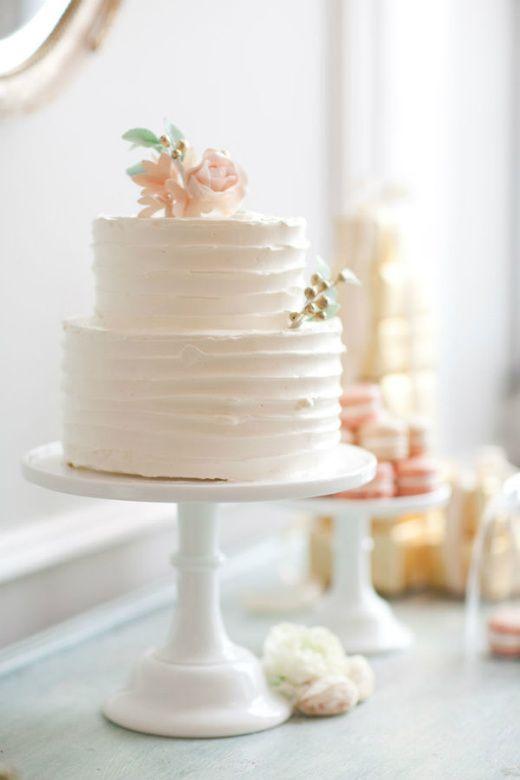 Vintage #WeddingCake in Creamy Neutrals: Sweet, Pretty Cake, Wedding Ideas, Cake Ideas, Wedding Cakes, Dream Wedding, Cake Stand, Weddingcake, Simple Cake