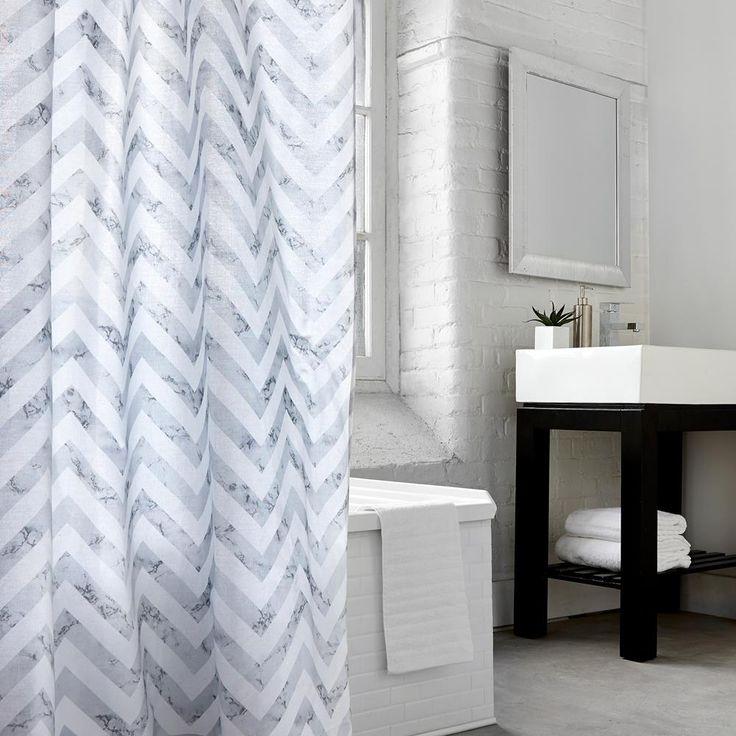 Les 25 meilleures id es de la cat gorie rideaux de chevron gris sur pinterest rideaux jaune et - Rideau de douche minnie ...