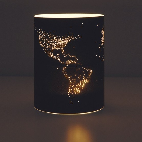 The world in lights.