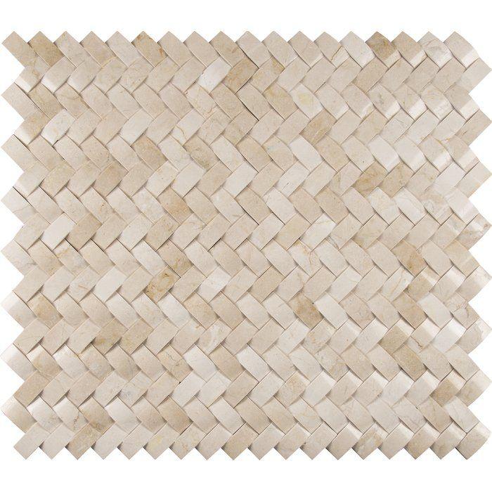 Crema Herringbone Arched 1 X 3 Marble Mosaic Tile Marble Mosaic Tiles Mosaic Tiles Marble Mosaic