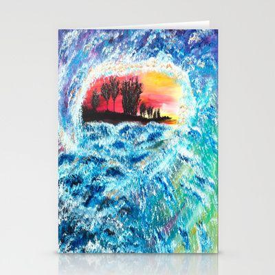 Wave Stationery Cards by Katrina Berkenbosch  - $12.00